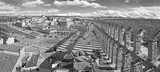 SEGOVIA, SPAIN, APRIL - 13, 2016: Aqueduct of Segovia and Plaza del Artilleria with the town. - 216752789