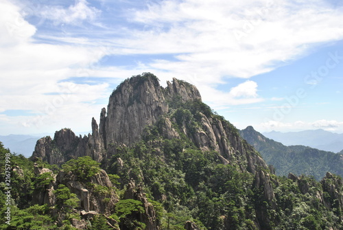 Canvas Wit The Yellow Mountain in China