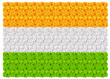 Flag of India floral background ornament mala
