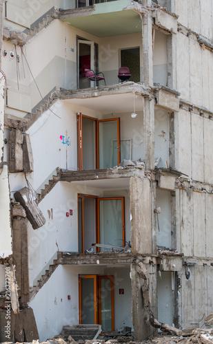 Foto Murales Gebäudeabriss