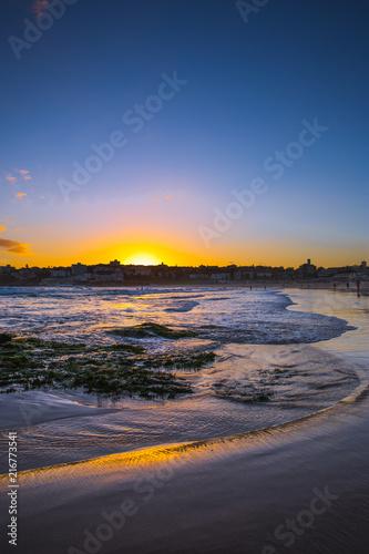 Foto Spatwand Strand bondi sunset