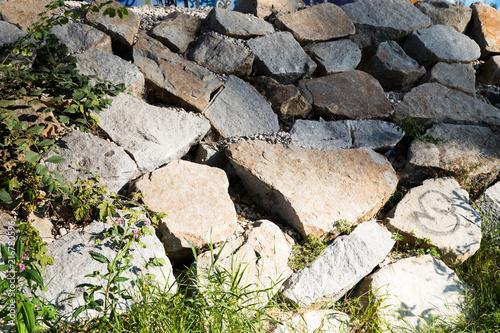Foto Murales steine am fluss
