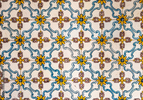 Vintage azulejos, traditional Portuguese tiles