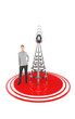 3d character , woman , wireless tower and its signals