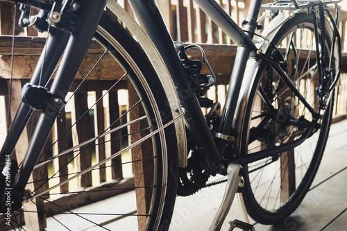 Foto Spatwand Fiets Retro vintage bike