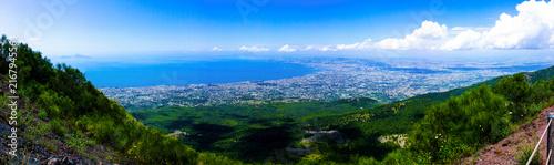 Fotobehang Napels Neapel vom Vesuv aus gesehen