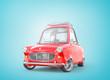 Leinwanddruck Bild - Red retro car. 3d illustration
