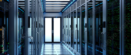 Leinwandbild Motiv Backup cloud data service center. 3D rendering