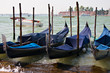 Quadro Gondolas parking in Venice