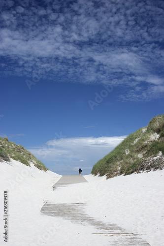 Leinwanddruck Bild Der Weg zum Meer