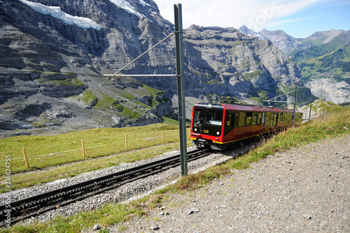 Foto Spatwand Spoorlijn スイスの登山列車