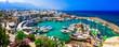 Leinwanddruck Bild - travel in Cyprus - turkish part Kyrenia. View of old port
