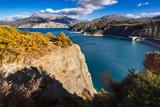 Serre Poncon Lake in Autumn. Hautes-Alpes, European Alps, France - 216829184