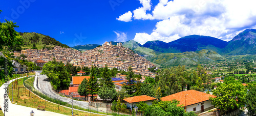 Fotobehang Freesurf Morano Calabro - one of the most beautiful medieval villages of Italy