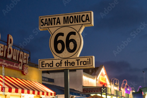 Canvas Route 66 Route 66 sign