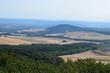 Leinwandbild Motiv Eifellandschaft aus der Vogelperspektive, vom Gänsehalsturm