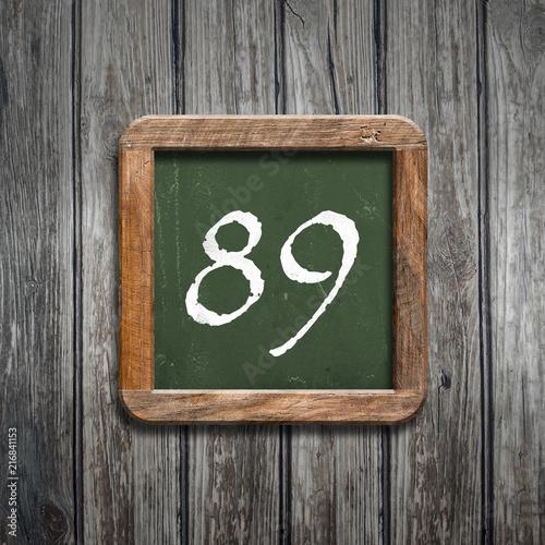 digit on a green blackboard - 216841153