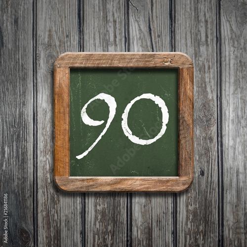 digit on a green blackboard - 216841186
