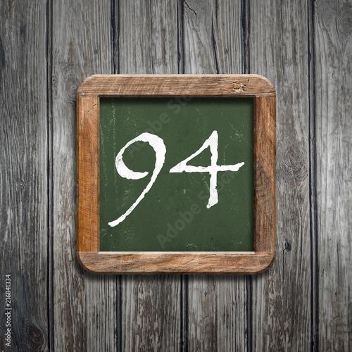 digit on a green blackboard - 216841334