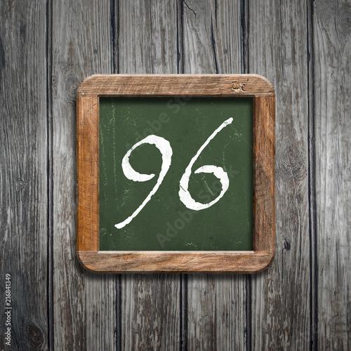 digit on a green blackboard - 216841349
