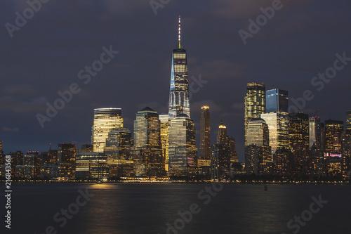 Foto Spatwand Shanghai New York City