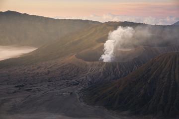 Mount Bromo volcano (Gunung Bromo) during sunrise