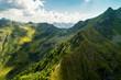 Quadro cime alpine - vista aerea