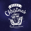 Merry Christmas typography. - 216849501