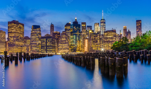 Foto Murales Manhatten Skyline at Night