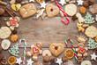 Leinwanddruck Bild - Lustige Lebkuchen zum Weihnachtsfest