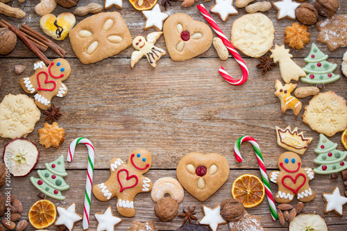 Leinwanddruck Bild Lustige Lebkuchen zum Weihnachtsfest