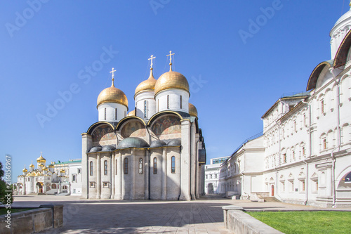 Leinwanddruck Bild Cathedral of the Archangel in Moscow Kremlin, Russia