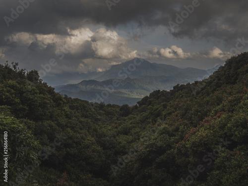 Fotobehang Grijze traf. Indonesian vulcano view
