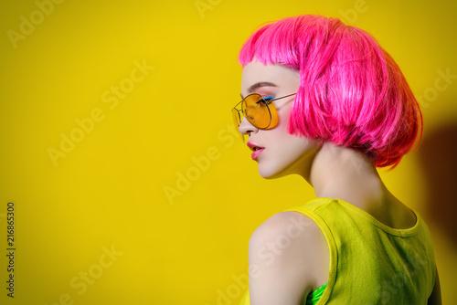 Foto Murales girl with pink hair