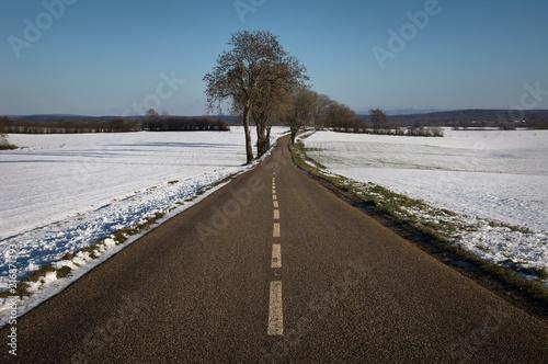 Route et neige