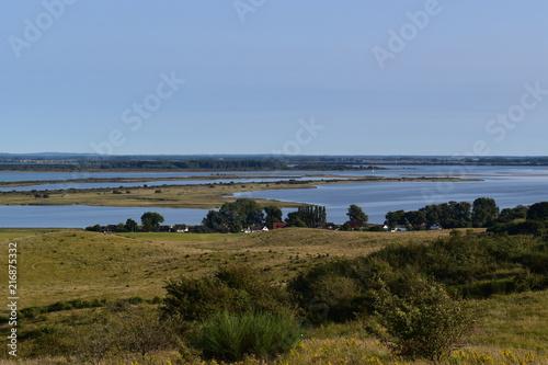 Widok z Dornbusch do Greaves na wyspie Hiddensee