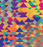 Abstract vibrant colorful triangle shapes vector background. - 216876709