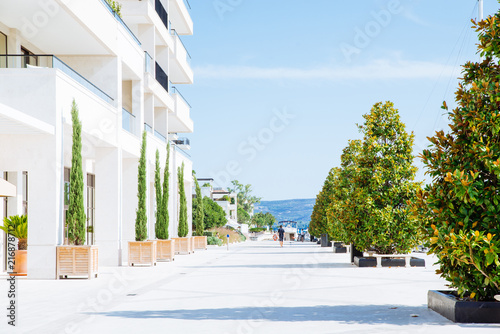 hotel resort at sea beach. summer time concept