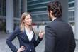 Leinwandbild Motiv Business people discussing