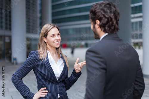 Business people discussing - 216879571