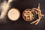 Ashwagandha supplement. Ayurvedic medicine. - 216883129