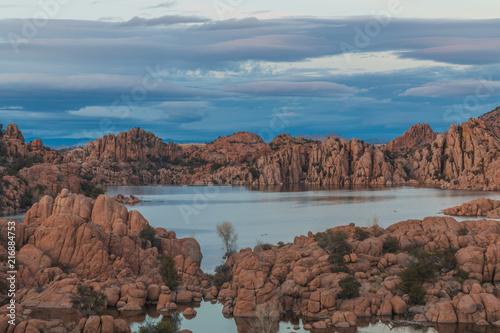 Canvas Cappuccino Scenic Watson Lake Sunset Prescott Arizona