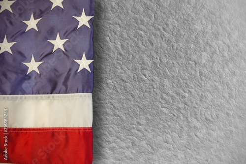 Composite image of creased us flag