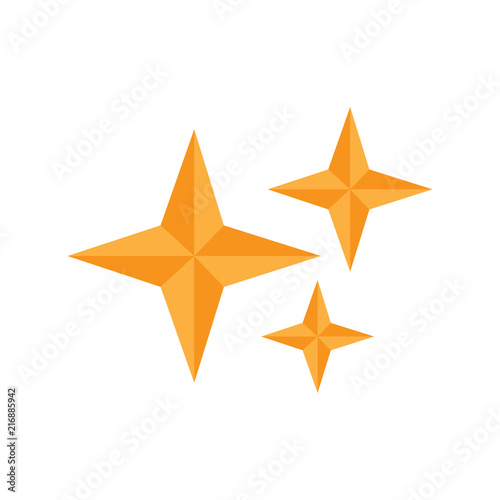 Isolated star shape icon - 216885942