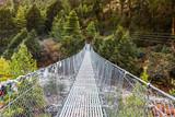 Hanging suspension bridge in Nepal.