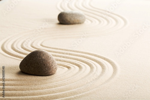 Plexiglas Zen Stenen Zen stones in the sand