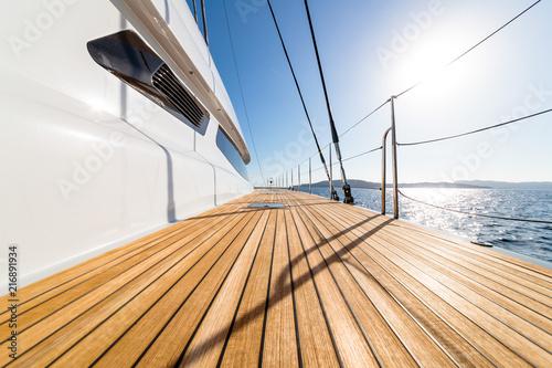 Leinwanddruck Bild pont de catamaran
