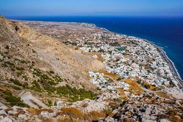Looking down to Santorini © Christian