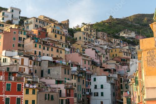 Sticker Riomaggiore in Cinque Terre, Italy
