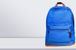 Quadro Blue school backpack on table